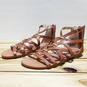 Steve Madden Brown Zip Up Gladiator Sandals